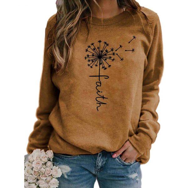 Stars Print Sweatshirts Women Long Sleeve Top Autumn New O-neck Sweatshirt Casual Female Loose Hoodies Datura Letter Pullover 5