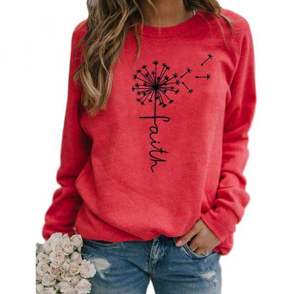 Stars Print Sweatshirts Women Long Sleeve Top Autumn New O-neck Sweatshirt Casual Female Loose Hoodies Datura Letter Pullover 4