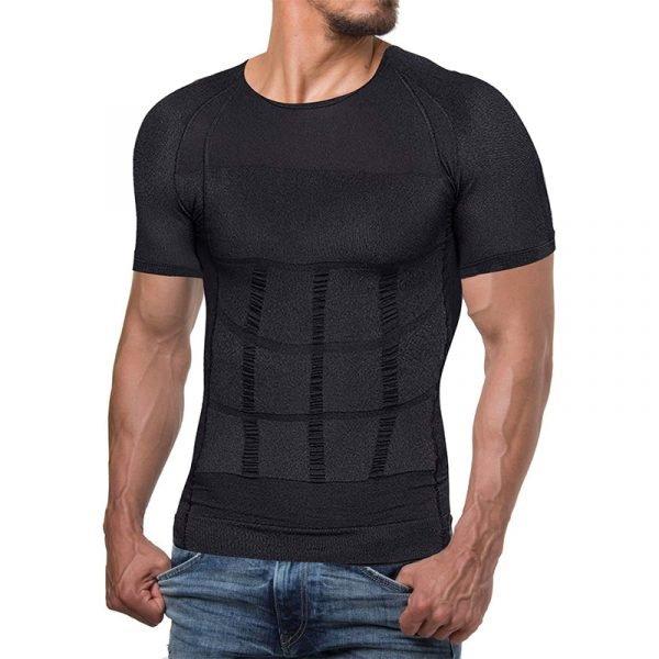 Men Body Shaper Compression Shirt Weight Loss Muscle T-shirt Waist Trainer Undershirt Slimming Base Layer Workout Tank Tops