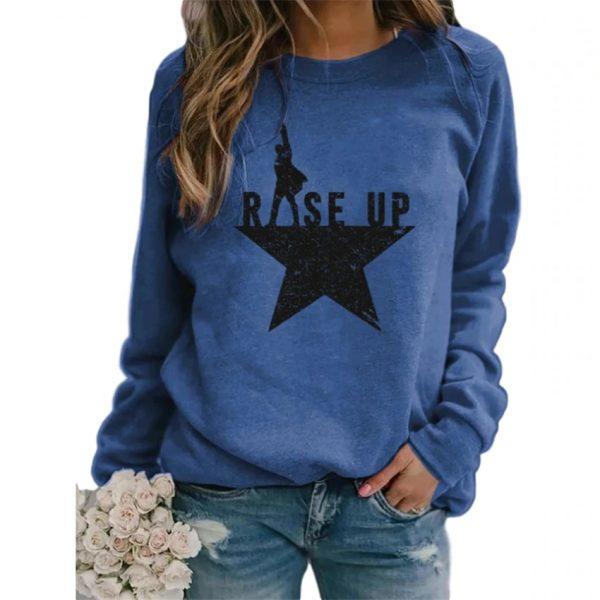 Stars Print Sweatshirts Women Long Sleeve Top Autumn New O-neck Sweatshirt Casual Female Loose Hoodies Datura Letter Pullover 3