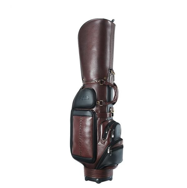 Genuine Leather Men custom Staff Golf Bag
